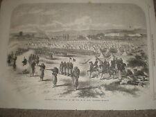 Chassepot Rifle Instruction St maur camp Vincennes France 1868 old print ref Z1