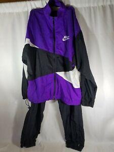 purple and white nike windbreaker