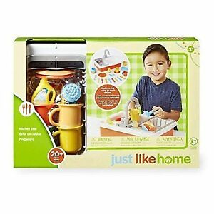 Just Like Home Toy Kitchen Sink Set Toys R Us 20pc Playset Ebay