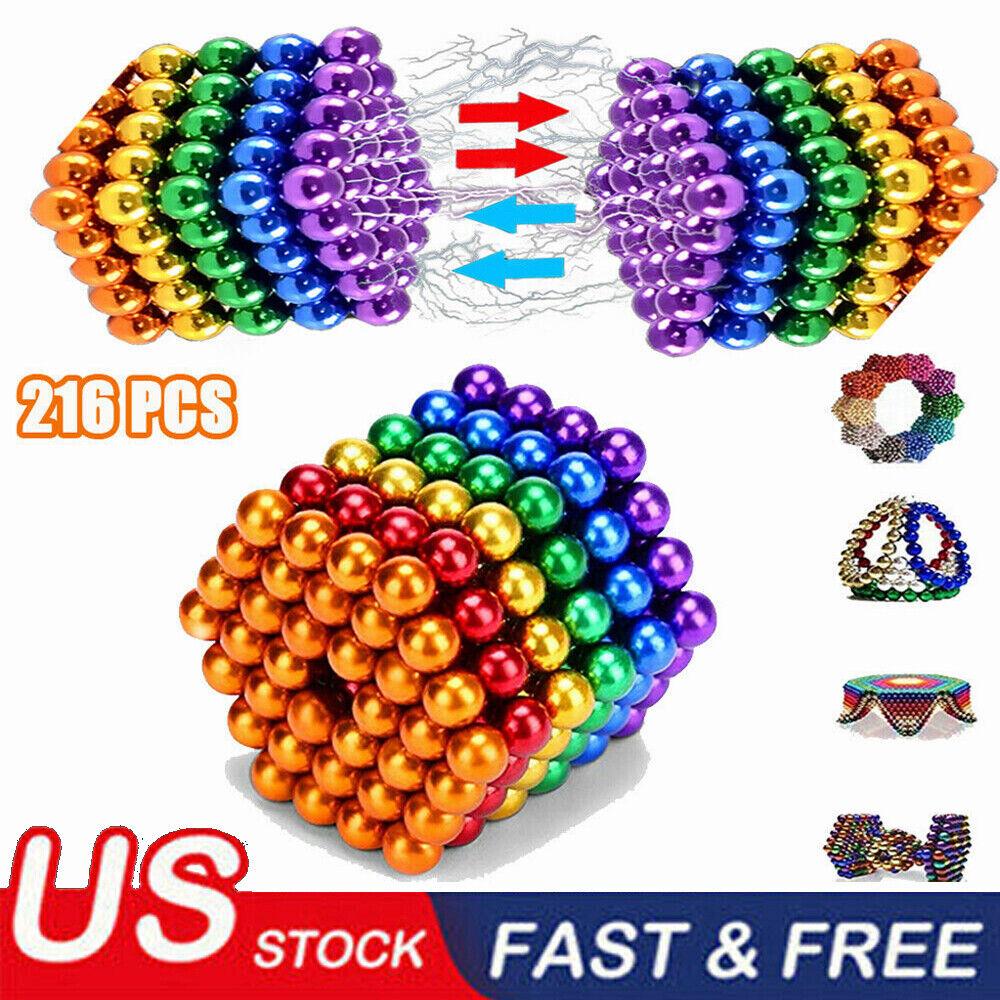 3mm//5mm 216pcs Magnet Balls Magic Beads 3D Puzzle Sphere Magnetic Magnetkugeln