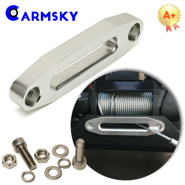 Aluminum Hawse Fairlead Mount Kit for Synthetic Winch Rope Cable Line Rope Lead Guide Universal Fit ATV//UTV