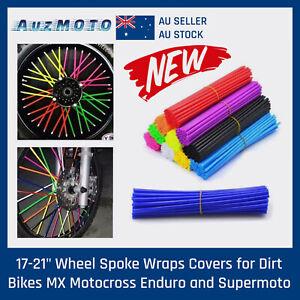 NEW Black 72pcs Wheel Spoke Skin Cover Wrap Kit 4 Motorcycle Motocross Dirt Bike