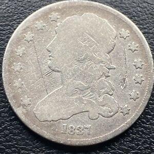 1837 Capped Bust Quarter Dollar 25c Better Grade  #29938