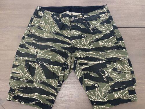 Momotaro Jeans Tiger Camo Cargo Shorts 32