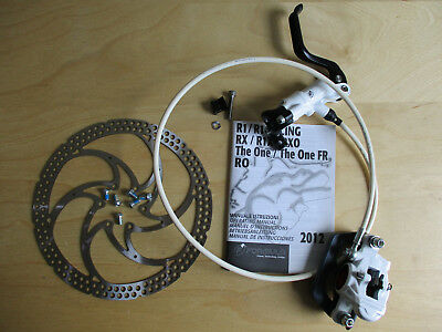 New Formula RX Rear Hydraulic Disc Brake Kit White Lever Assembled Bled w Rotor