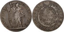 Italie / Gaule Subalpine - 5 francs AN 10 Turin TTB+