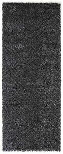 DAYTON-CHARCOAL-GREY-SIMPLE-PLAIN-SHAGGY-FLOOR-RUG-RUNNER-80x200cm-NEW