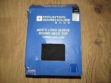 New Mountain Warehouse mens long sleeve Round Neck Top Thermal Base Layer -XL