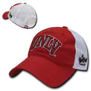 UNLV-Runnin-Rebels-Nevada-Las-Vegas-Trucker-Mesh-Polo-Baseball-Cap-Hat