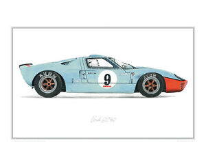 Image Is Loading Ford Gt Gulf Limited Edition Of  Classic