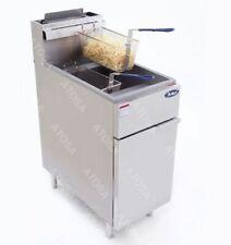 Atosa Atfs 40 Stainless Steel Deep Fat Fryer 40 Lb Gas Commercial Propane Lp