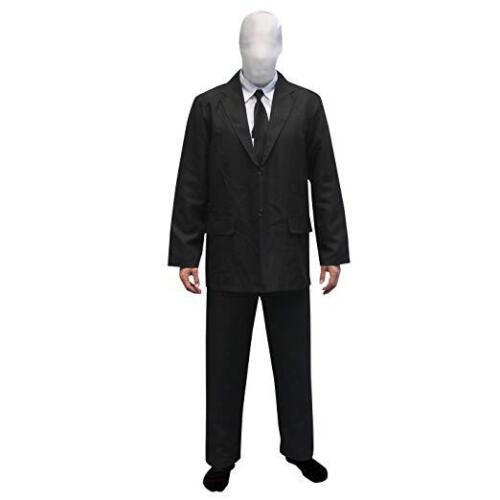 Morphsuits Halloween Costume Size Large Black and White Body Suit NEW Slenderman
