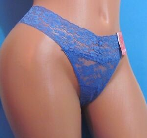 Image is loading CANDIES-Blue-Lace-Nylon-Sexy-Thong-Sissy-Bikini- 73e3a3ce6