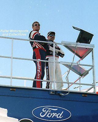 DALE EARNHARDT SR & JARRETT WATCH QUALIFYING BRISTOL NASCAR WINSTON 8X10 PHOTO