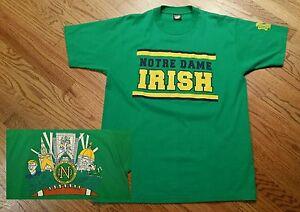 Vintage-Notre-Dame-1990-Screen-Stars-T-Shirt-Men-039-s-XL-Irish-Football-shirt-Holtz