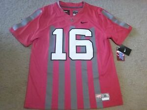 low priced d6b4b 8838b Details about REAL Nike Ohio State OSU Buckeyes JT Barrett 16 Limited Plus  + Throwback Jersey!