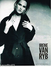 PUBLICITE ADVERTISING 065  1995  IRENE VAN RYB   haute couture