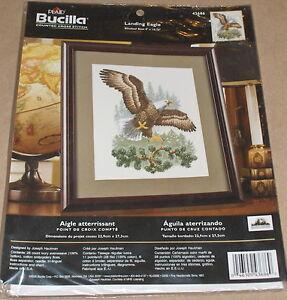 Bucilla-Hautman-Bald-Eagle-Forest-Cross-Stitch-Kit-NIP-9x10-75-034