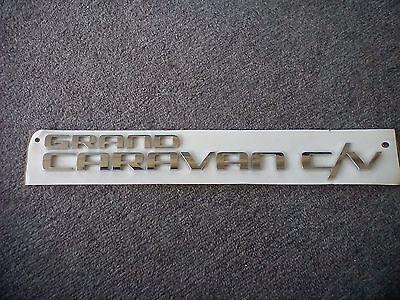 2011-2019 Dodge Grand Caravan Chrome Lift Gate Nameplate Emblem Mopar OEM