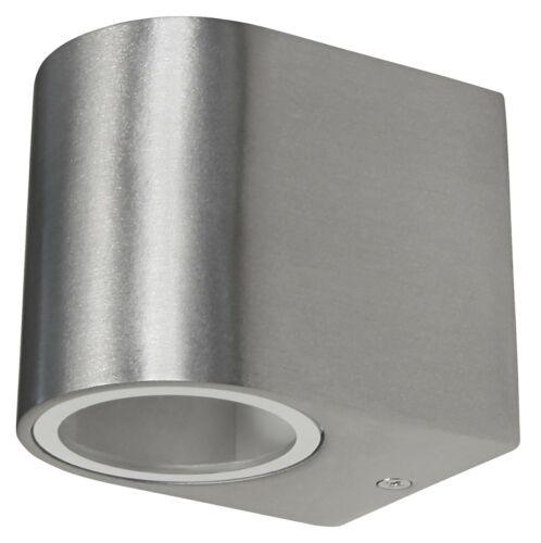 GU10 Außenwandlampe Außenlampe 230V Aluminium Wandleuchte Oval 12 strahlig f