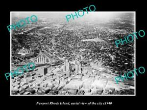 OLD-LARGE-HISTORIC-PHOTO-OF-NEWPORT-RHODE-ISLAND-AERIAL-VIEW-OF-THE-CITY-1940-2