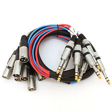 "Seismic Audio New 8 Channel 5' XLR Male to 1/4"" TRS Audio SNAKE CABLE"