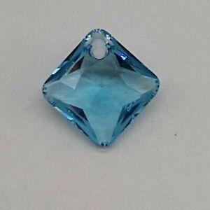 Swarovski Crystal Montana Princess Cut Pendant 6431; 11.5mm or 16mm; Diamond