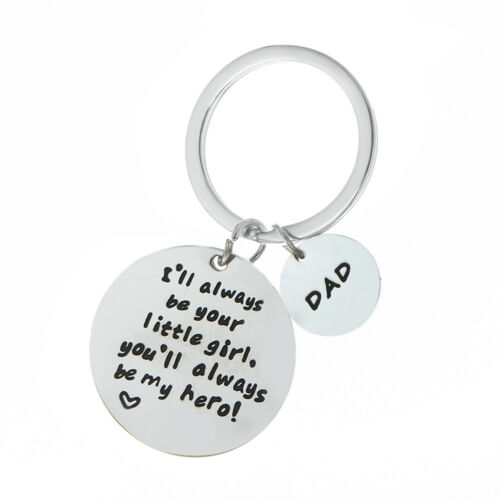 1 Of 4FREE Shipping Gift For Dad Daddy Thank You Daughter Keyring Birthday Father Key Ring