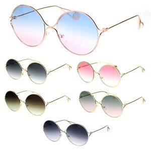 f6e5694c73 Image is loading Womens-Round-Circle-Exposed-Lens-Retro-Hippie-Sunglasses