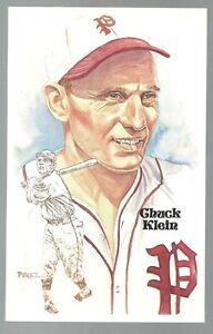 171-CHUCK-KLEIN-Perez-Steele-Hall-of-Fame-Postcard