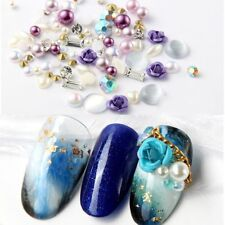 3D Nail Art Rose Jewelry Gems Mix Nail Art Decoration Glitter Rhinestones Tips