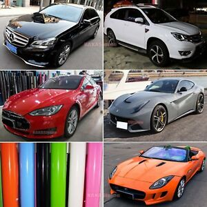 High-Glossy-Car-Paint-Change-Bright-Flat-Vinyl-Wrap-Film-Sticker-Air-Free-AB