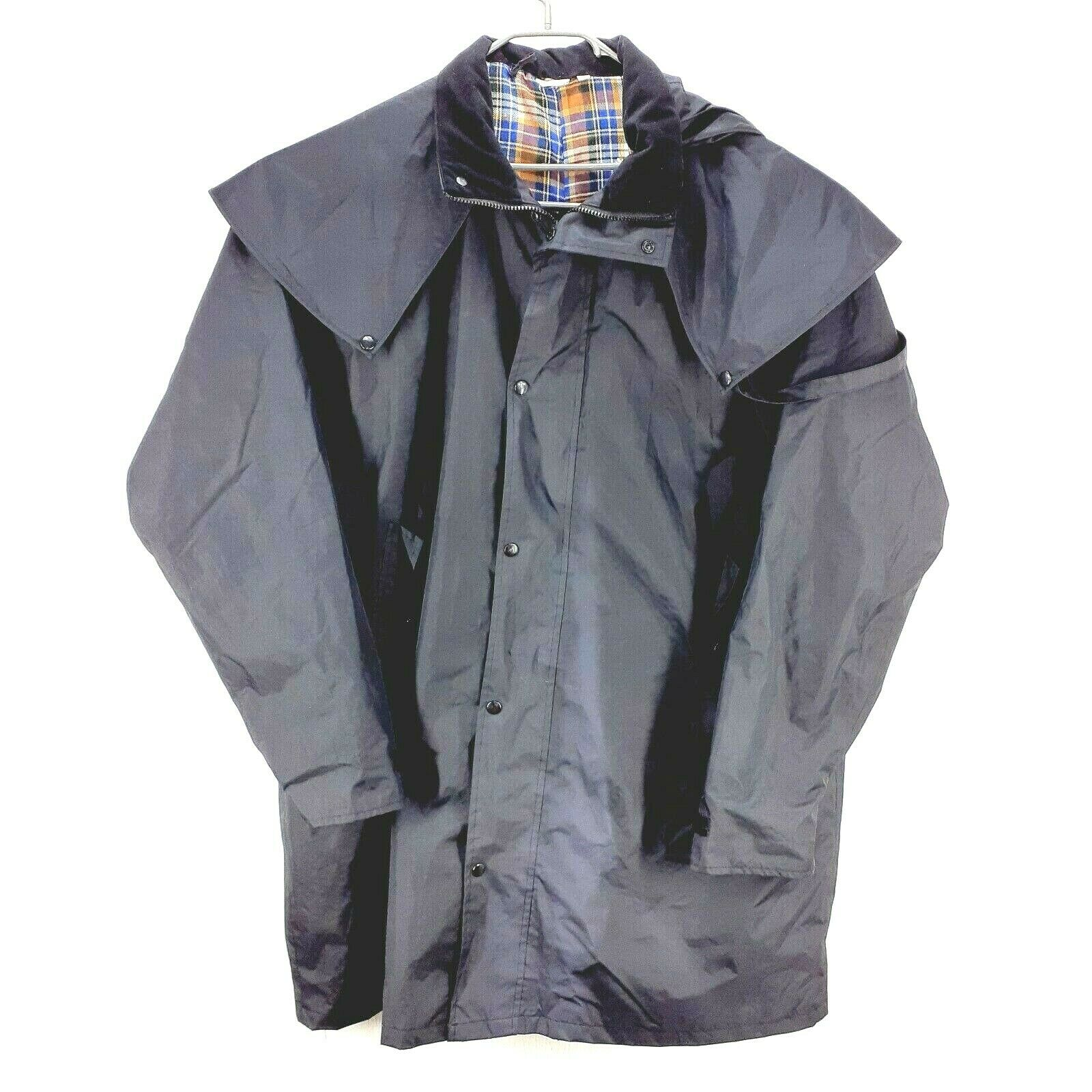 Cotton Traders Windermere concealed Hood Long Rain Coat black XXXL P2P30 L38