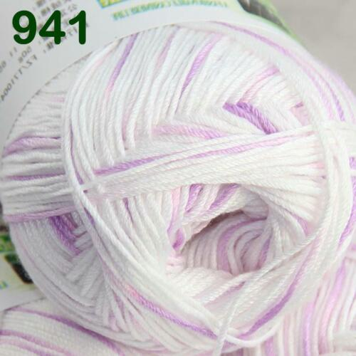 Sale 1 SkeinX50g SUPER Soft Baby Natural Smooth Bamboo Cotton Knitting Yarn 941
