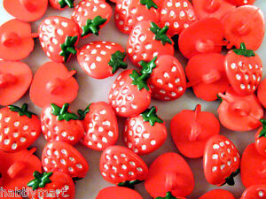 Children/'s Novelty Cherry Buttons with Shank 15mm x 12mm