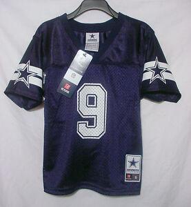 NWT TONY ROMO 9 Dallas Cowboys MESH Football Jersey Navy Youth ... b77e006e8