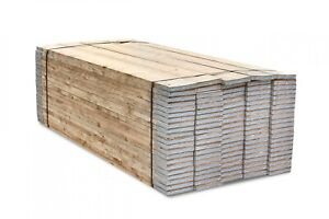 COLLECTION ONLY 8ft 2.4 Metre Wooden Scaffold Boards Planks Kite Marked Banded