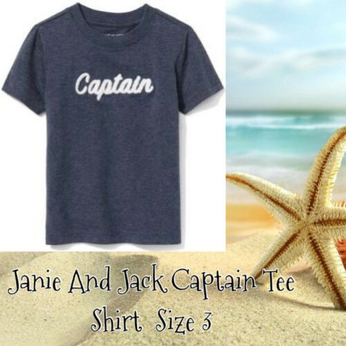 Janie and Jack Captain Shirt Boy/'s Size 3