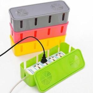 Power-Cable-Organizer-Box-Wire-Storage-Cord-Case-Plug-Socket-Anti-Dust-Hollow