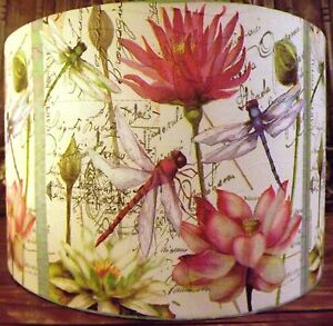 Details About Dragonfly Lamp Shade Lampshade Shabby Chic French Free Gift