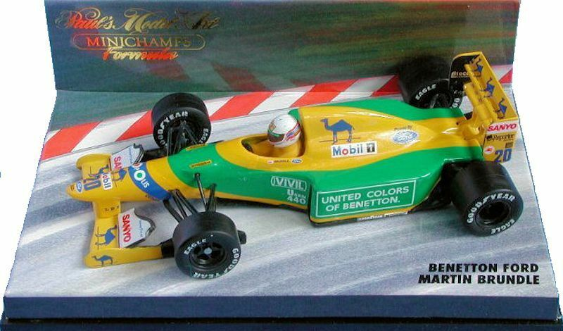 VERY    RARE   MINICHAMPS   1 43  BENETTON FORD MARTIN BRUNDLE 2bee27