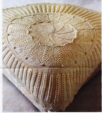 HEIRLOOM THROW//BLANKET~LACE PETALS//BOBBLES THROW ~  KNITTING PATTERN~ p.out 1