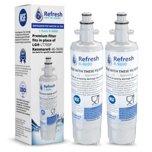 Replacement For LG LMXS27626D Refrigerator Water Filter - by Refresh