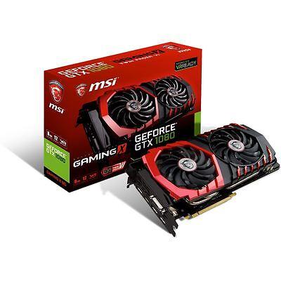 MSI nVidia GeForce GTX 1080 Gaming X OC 8GB GDDR5X Graphics Video Card HDMI DP