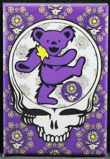 """Grateful Dead Dancing Bear 2"""" X 3"""" Fridge / Locker Magnet. Purple"""