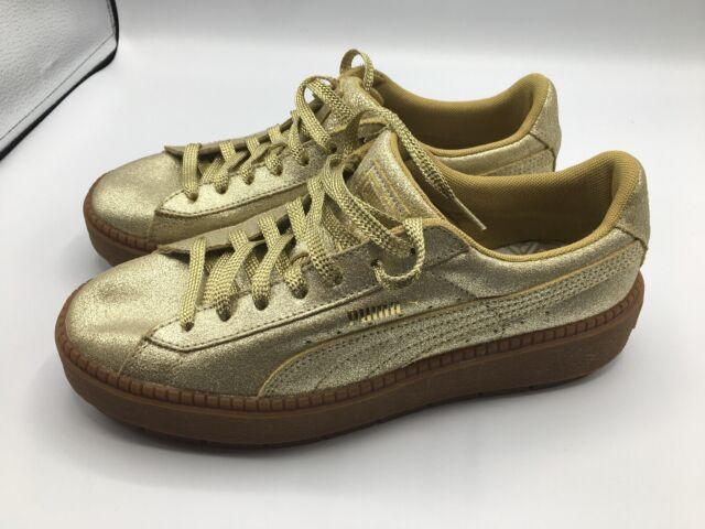 puma basket platform gold