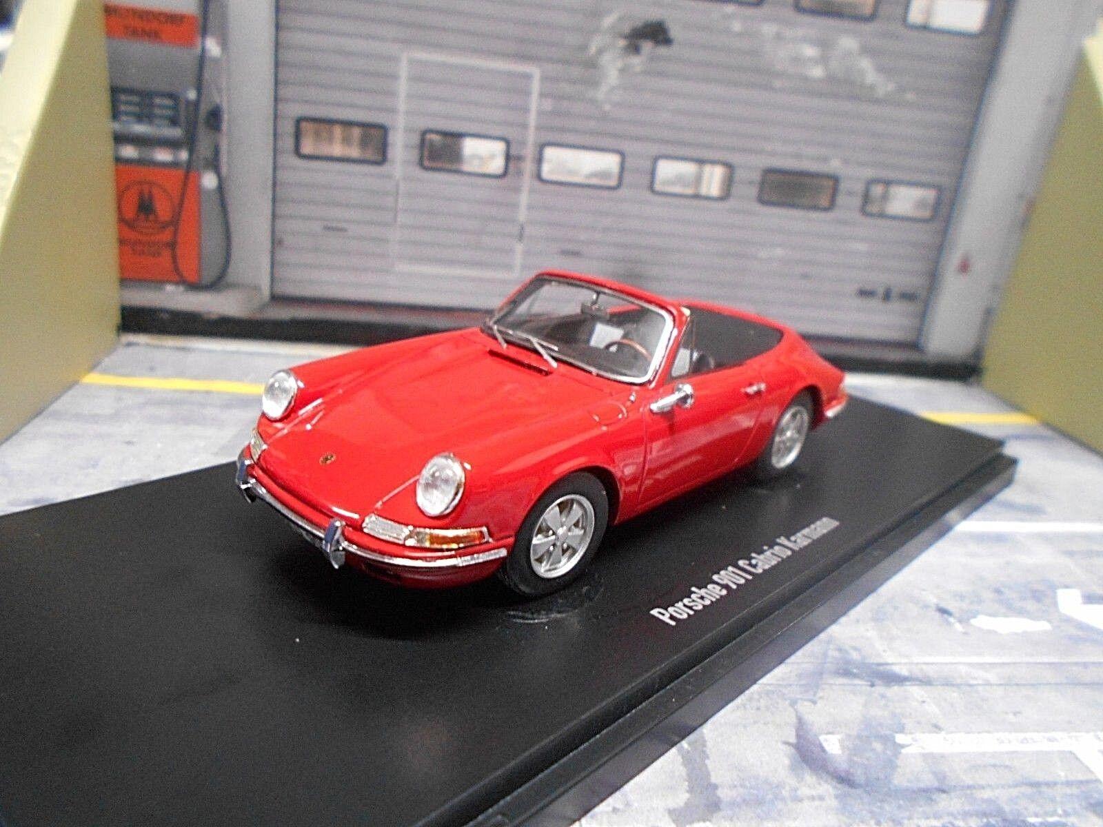 PORSCHE 901 911 Cabriolet Cabriolet Karmann rouge Rouge Resin HQ autocult 1 43