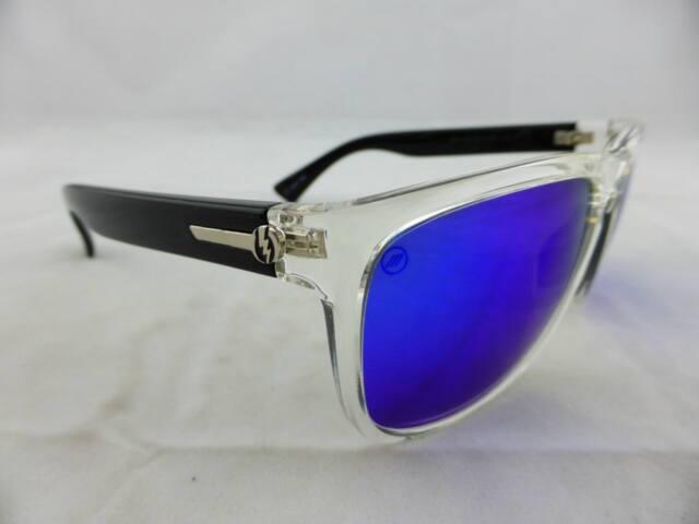 9bf023af0df89 Electric KNOXVILLE XL Sunglasses Black Crystal - Melanin Grey Blue Chrome  Lens
