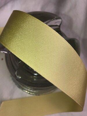 "1 yard of 4 1//4/"" vintage cotton silk gold yellow petersham ribbon hat dress"