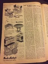 Original 1953 Nock & Kirbys Vintage Australian Print Advertising Furniture